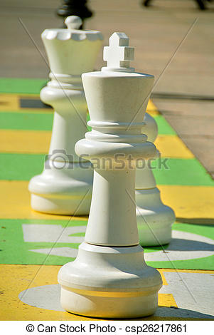 Stock Image of Street chess at a square in Montreal canadfa.