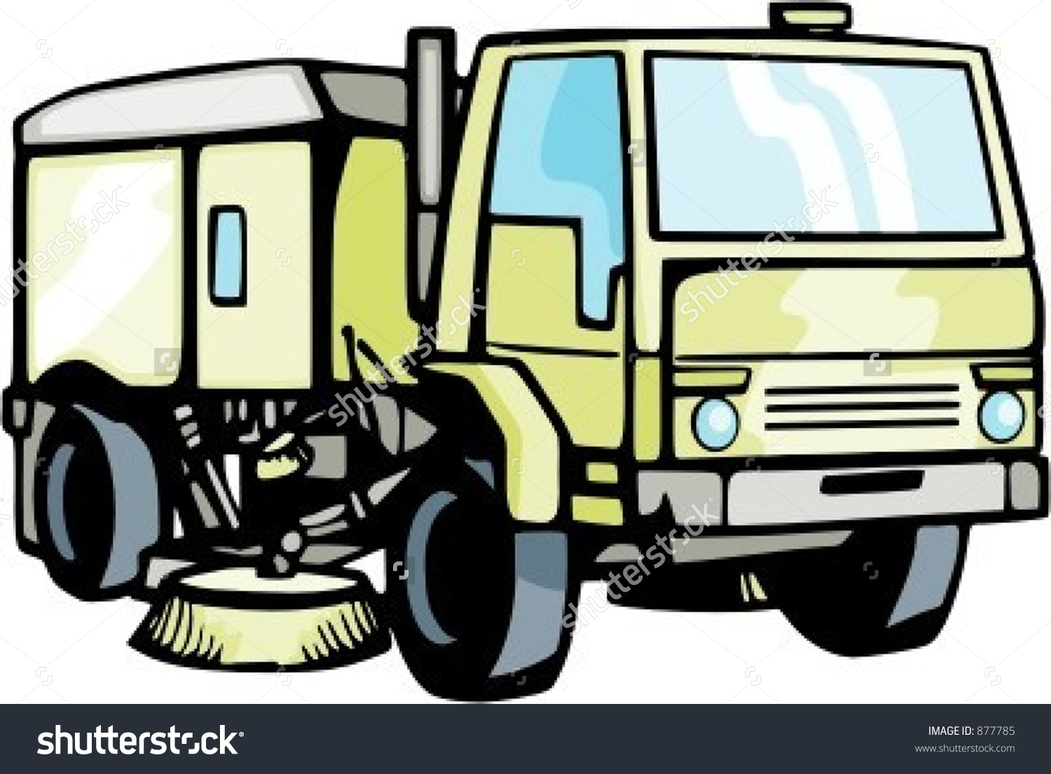 Street Cleaning Truck Check My Portfolio Stock Vector 877785.