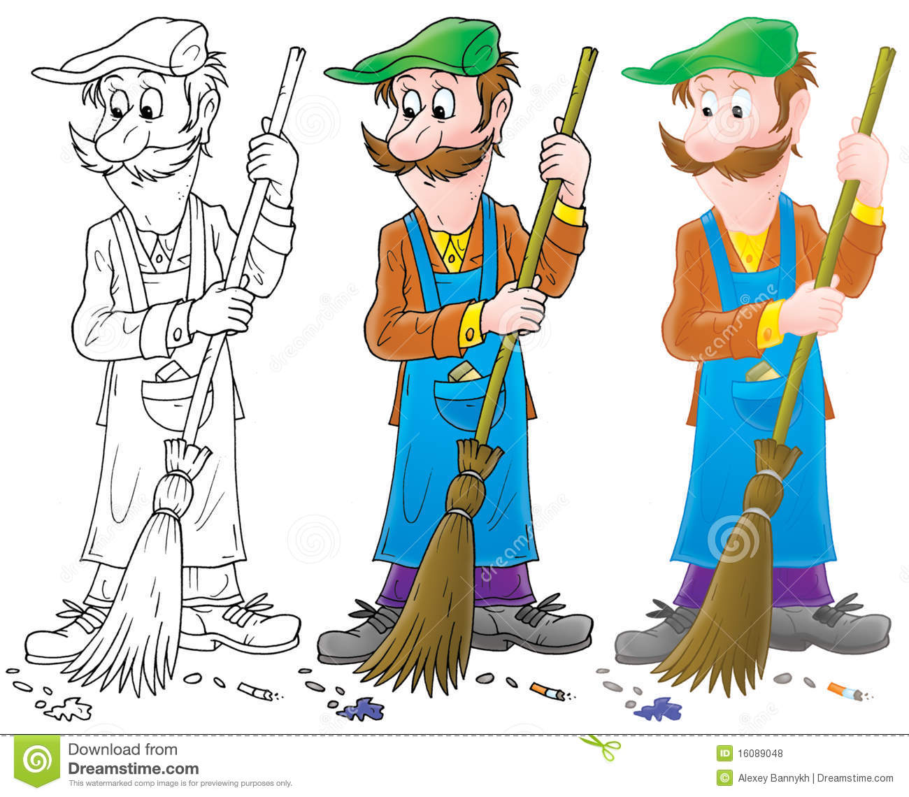 Yardman Stock Illustrations.