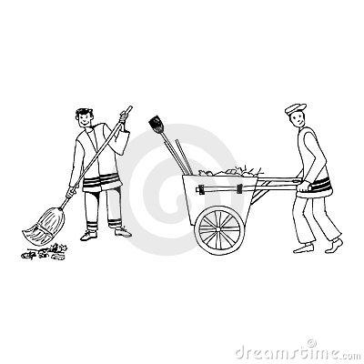 Street Cleaner Stock Illustrations.