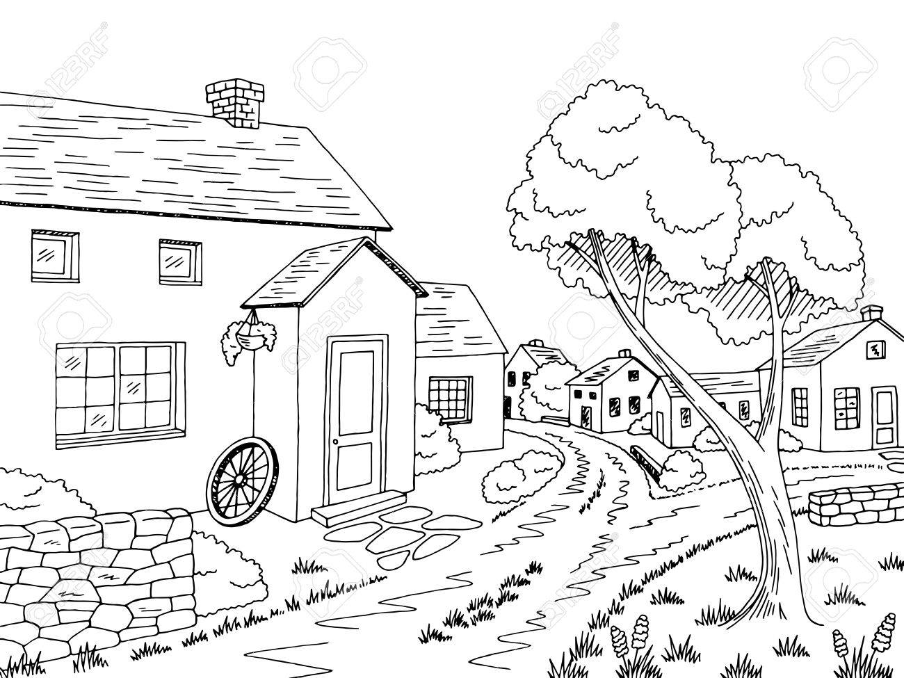 Street clipart black and white 7 » Clipart Station.