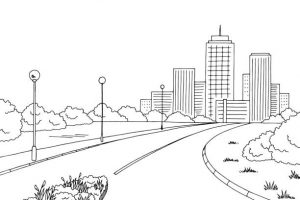Street clipart black and white 5 » Clipart Station.