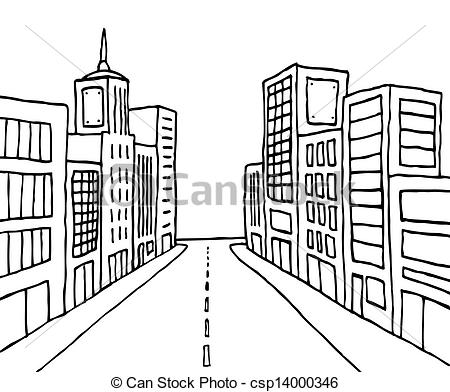 City street clipart black and white 7 » Clipart Station.