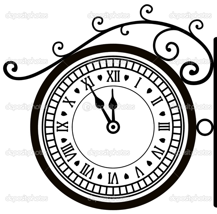 78+ images about clock vectors silhouettes on Pinterest.