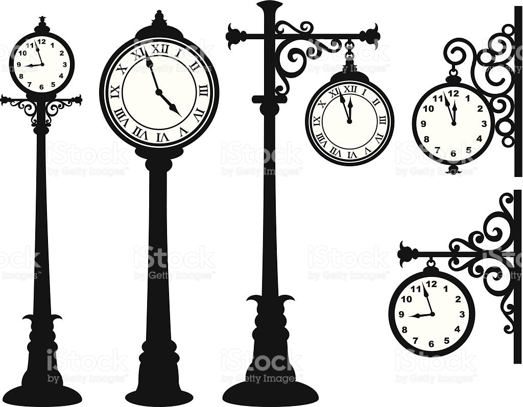 Street Clock stock vector art 457717225.