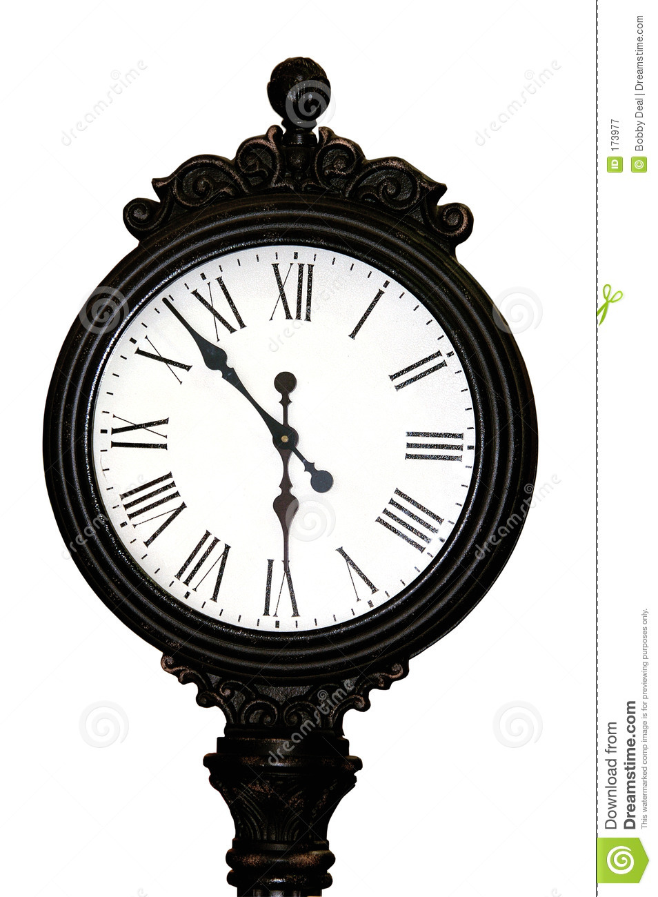 Antique Clock Face Royalty Free Stock Photography.