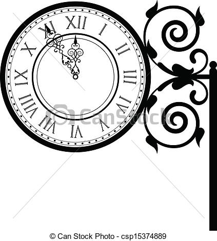 Street clock Clip Art and Stock Illustrations. 707 Street clock.