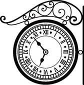Fancy clock clipart.