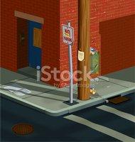 Street Corner stock vectors.