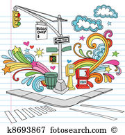 Street corner Clipart Royalty Free. 505 street corner clip art.
