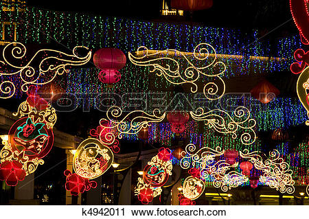 Stock Photography of Chinese New Year Street Decoration k4942011.