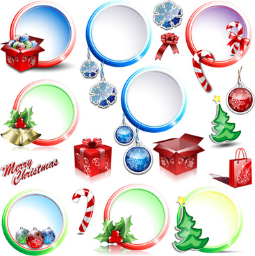 Vector christmas street decoration free vector download (20,966.