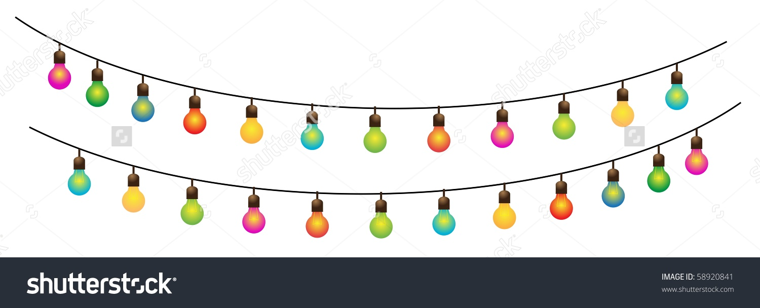 Ramadan Colored Lamps Street Decoration 3vector Stock Vector.
