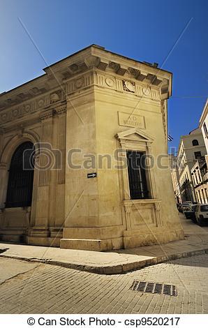 Picture of Building facade in old havana street.