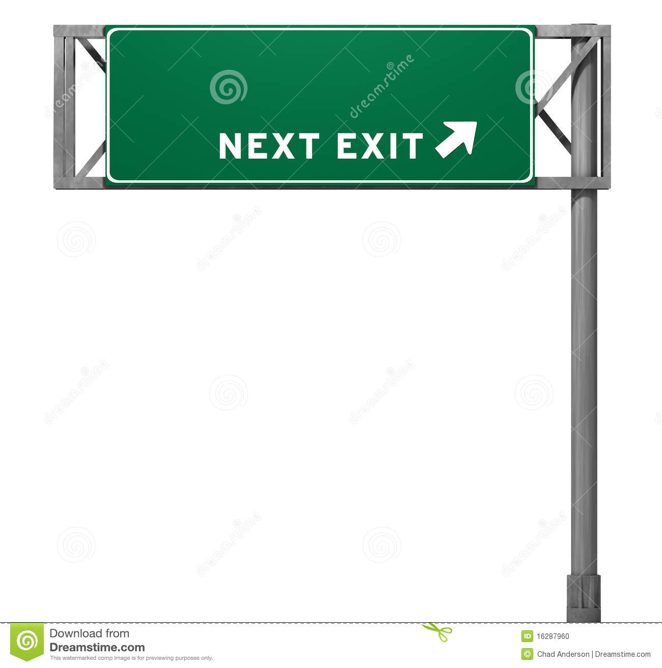 Highway Exit Clipart.