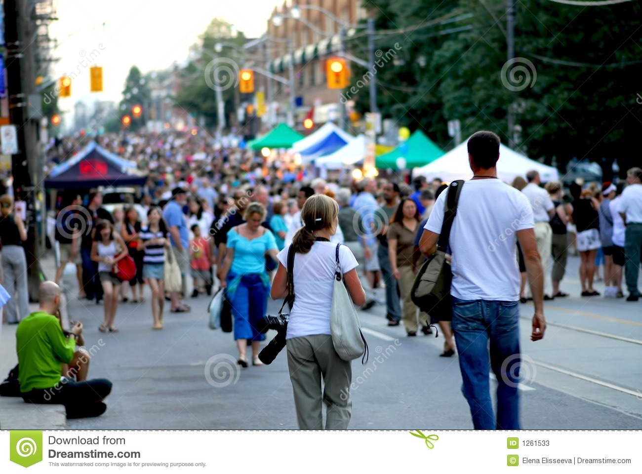 Street Festival Stock Photos.