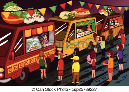 Food truck festival Vector Clipart Illustrations. 142 Food truck.