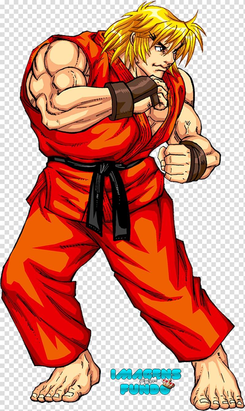 Street Fighter Ken art, X.