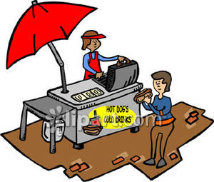 Food vendor clipart.