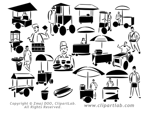 Street food clipart.