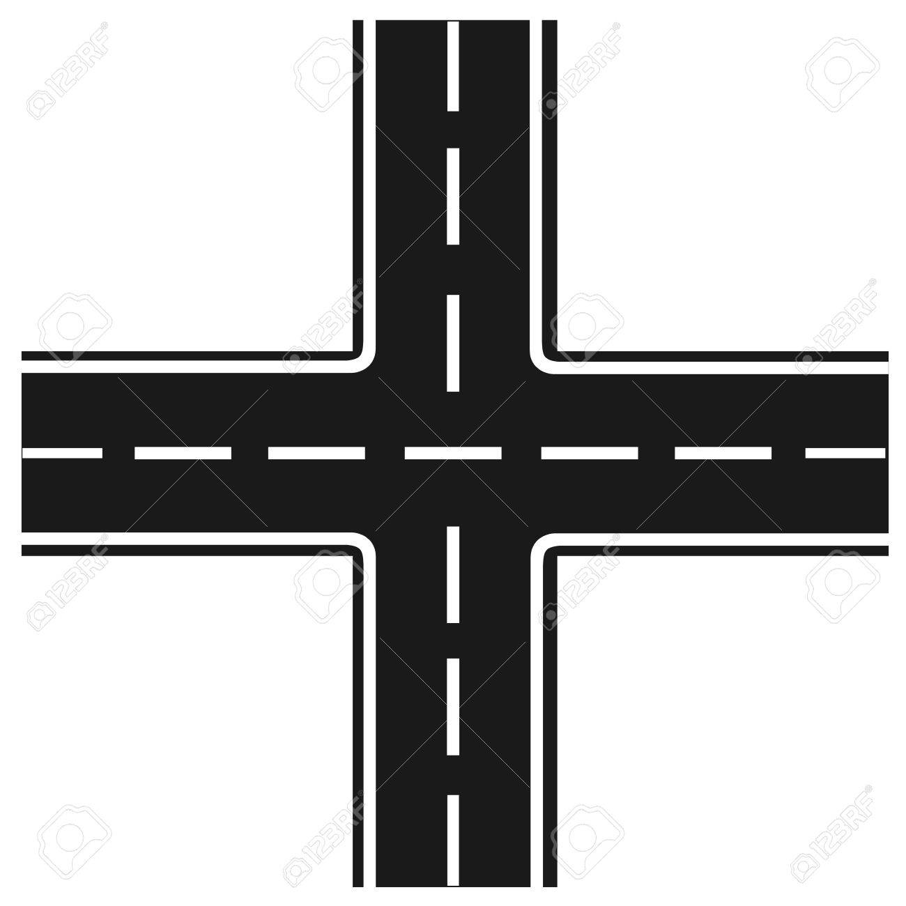 Road clipart intersection.