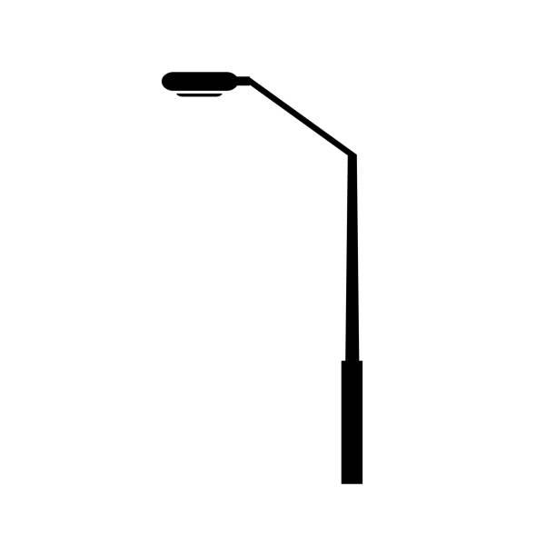 modern street light post clip art.