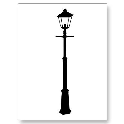 Lamp Post Postcard.
