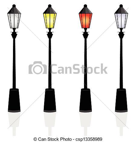 Vector of street lights color vector illustration csp13358989.