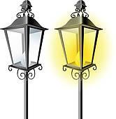 Royalty Free Street Lantern Clip Art.