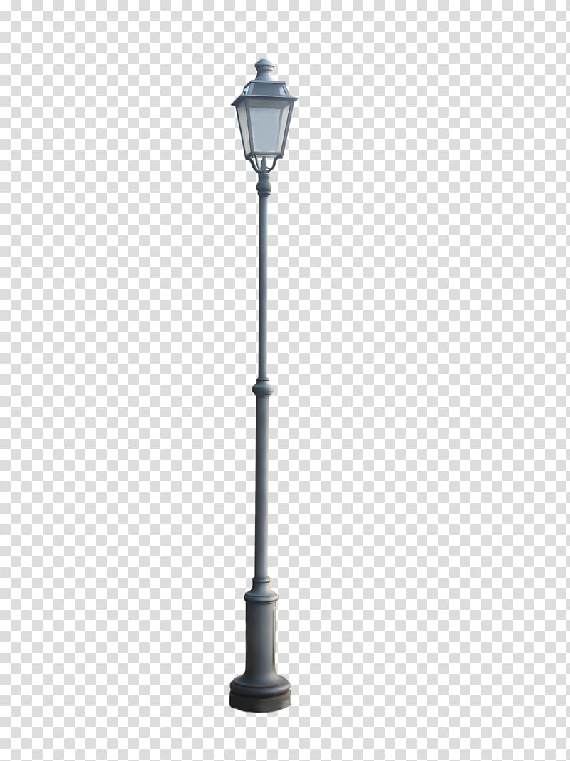 Cut Out Street Lamp, gray metal outdoor lamp pole.