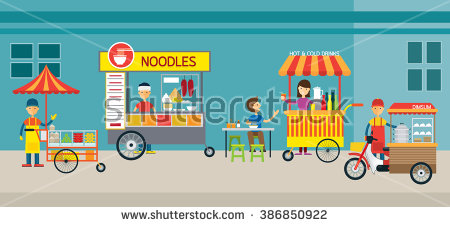 Street Vendor Stock Images, Royalty.