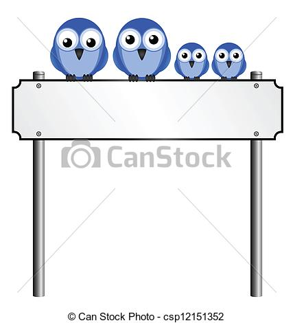 Clipart Vector of blank street name sign.