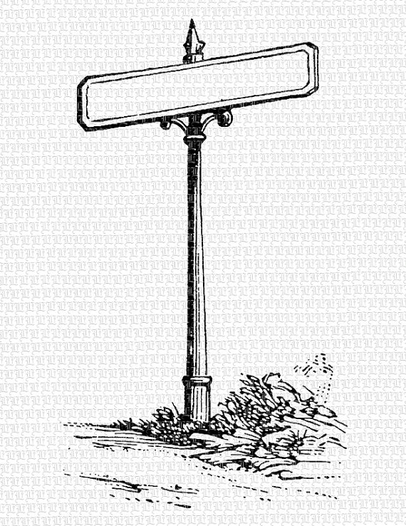 Blank Street Sign Clipart Black And White.