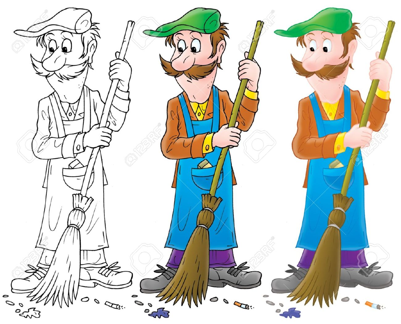 Clipart street sweeper.