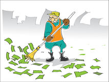 Sweeper Stock Illustrations.