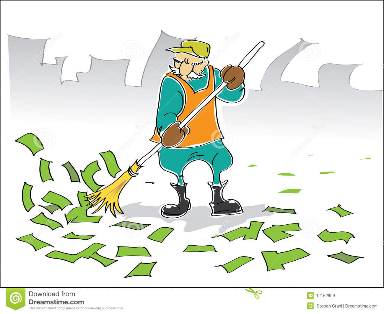 Street Sweeper Royalty Free Stock Images.