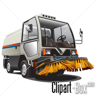 CLIPART STREET SWEEPER VEHICLE.