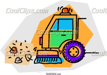 Small Street Sweeper Clipart.