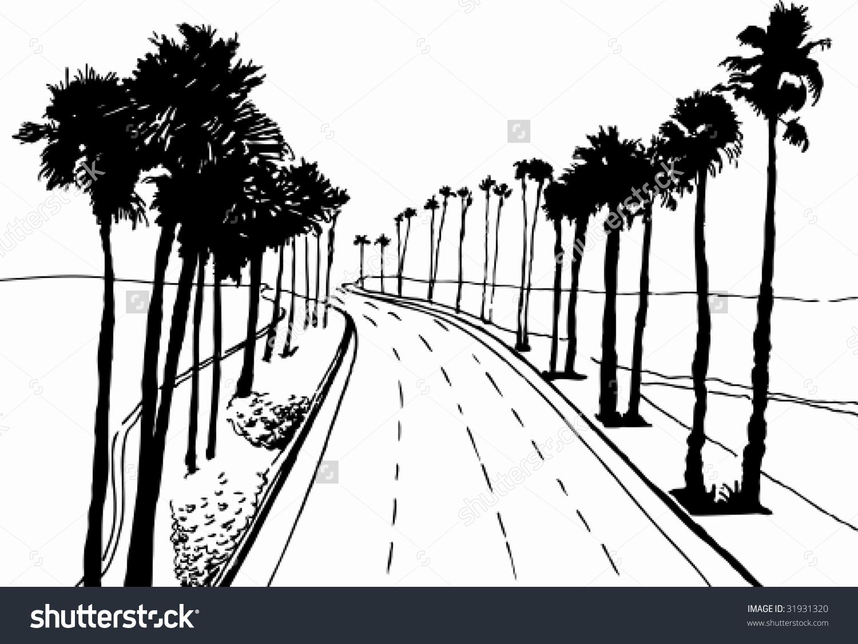 Cali palm tree clipart.