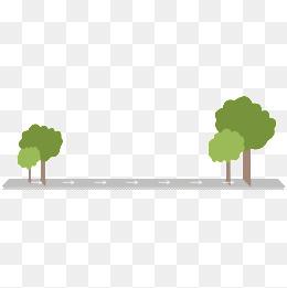 Street trees.