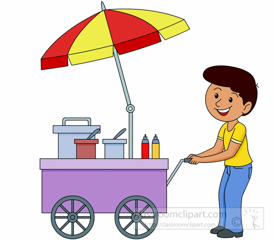 Street vending clipart - Clipground