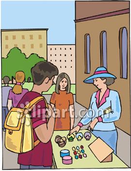 Street vendor clipart - Clipground
