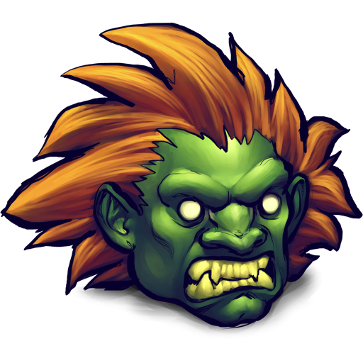 Blanka Street Fighter Icon, PNG ClipArt Image.