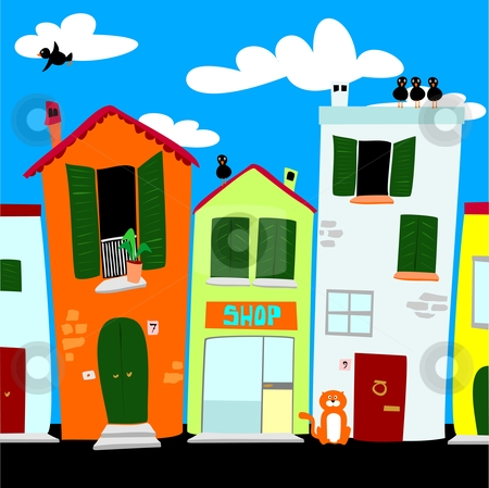 City street clipart.