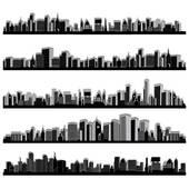 Clipart of City skylines k6573135.