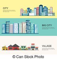 Streetscape Vector Clip Art Illustrations. 9 Streetscape clipart.