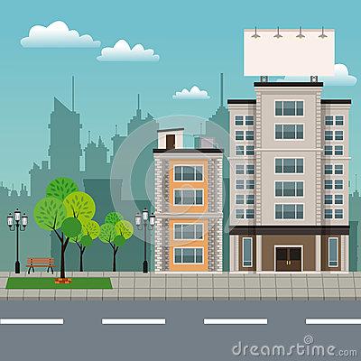 Streetscape Stock Illustrations.