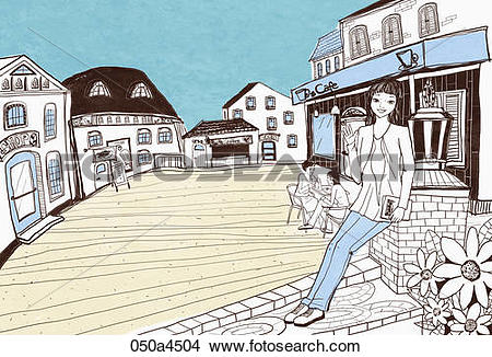 Drawings of drawing of street scape 050a4504.