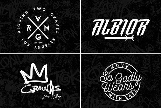 do urban streetwear clothing brand logo design.