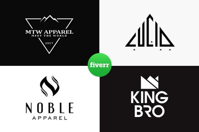 design modern minimal clothing logo for urban streetwear or fashion brand.